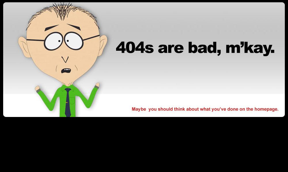 Best 404 pages: South Park